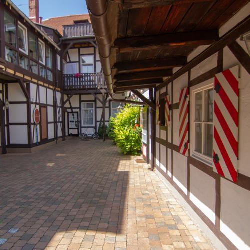 Beliebtes Fotomotiv: Unser Innenhof