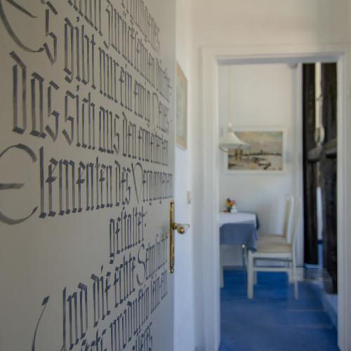 Alle Kalligrafien wurden vom Gastgeber selber angefertigt